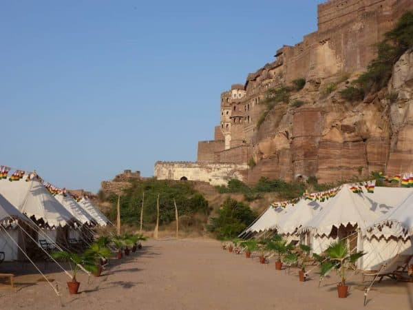 Royal Rajasthan Luxury Tour Day 2 Royal tents in the fort