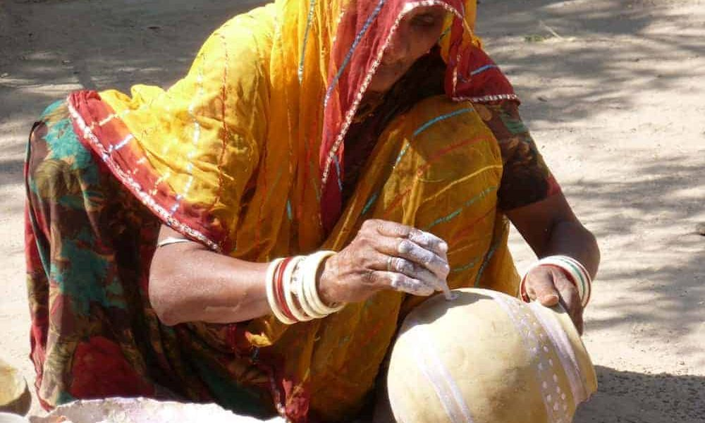 Royal Rajasthan Luxury Tour Day 4 bisnoi village potterwoman