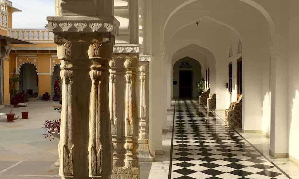 Royal Rajasthan Luxury Tour Day 9 Dev Shree courtyard