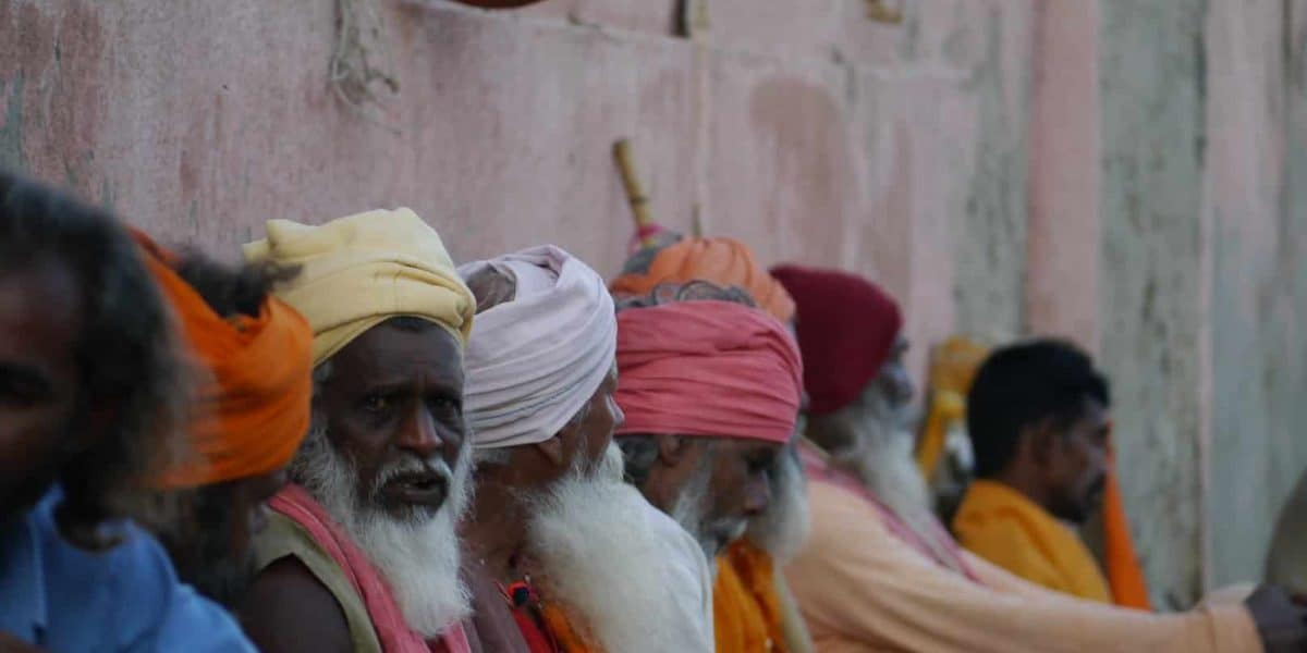 Gujarat Dwarka group of Sadhus