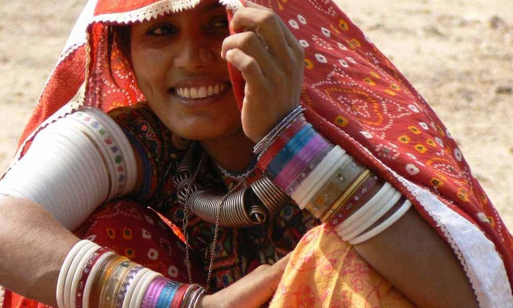 Gujarat Girl in red