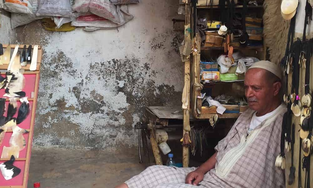 Magnificent Morocco Tour Gallery Fes Medina Shopkeeper