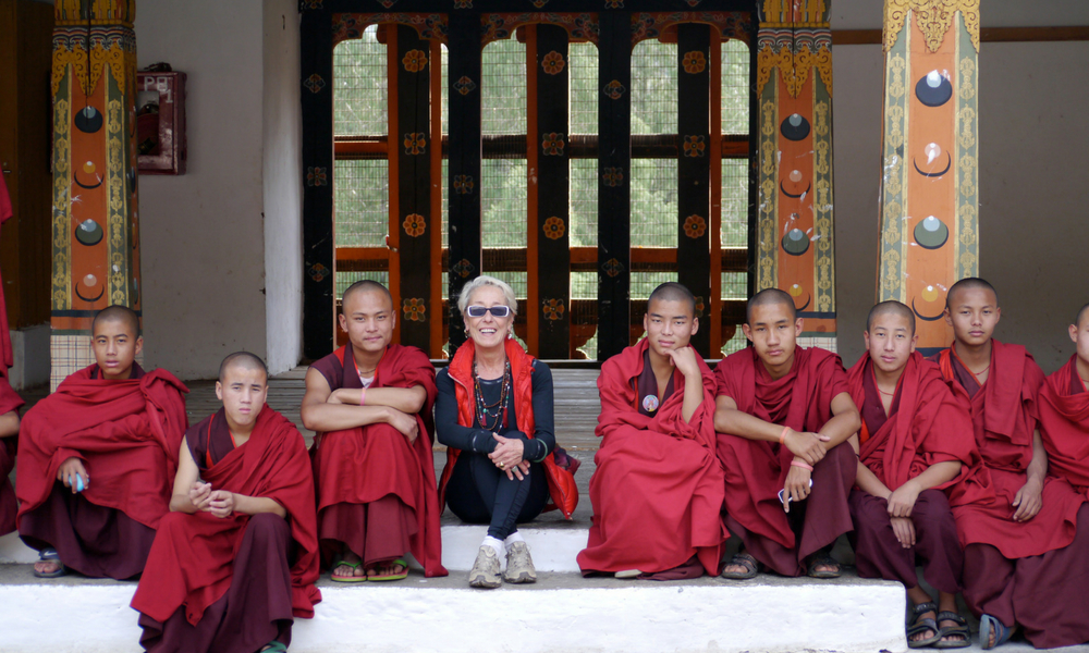 Bhutan with the monks