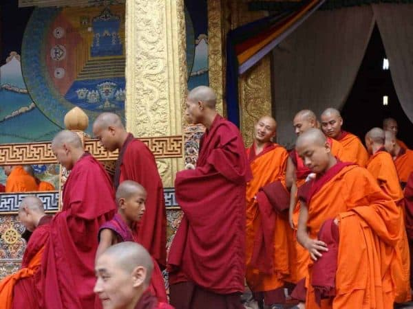 Bhutan Tour Icon or gallery monks at Punakha