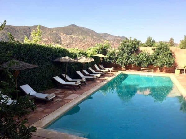 Morocco the Magnificent Tour Day 10 Atlas Mountains KBO pool