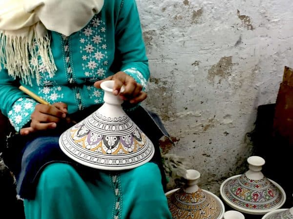 Morocco the Magnificent Tour Day 6 Fes or Gallery pottery painters